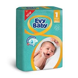 Evy Baby Пелени Newborn размер (1) 2-5кг, 44бр.