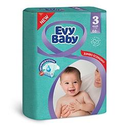 Evy Baby Пелени Mini, размер (3), 5-9кг, 68бр.