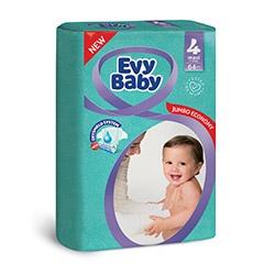 Evy Baby Пелени Maxi размер (4), 7-18кг,64бр.