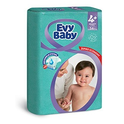 Evy Baby Пелени Maxi+, размер (4+), 9-20кг, 54бр.