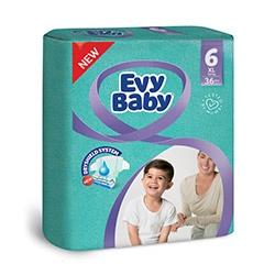 Evy Baby Пелени XL размер (6), 16+кг, 36бр.