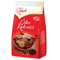 Бисквити с какаово покритие-плик