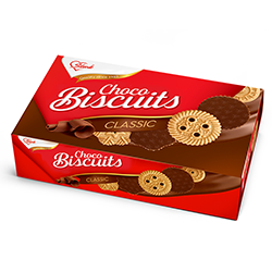 Бисквити с какаово покритие