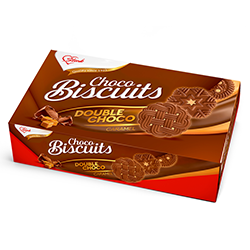 Stark biscuits with caramel flavor and cocoa cover